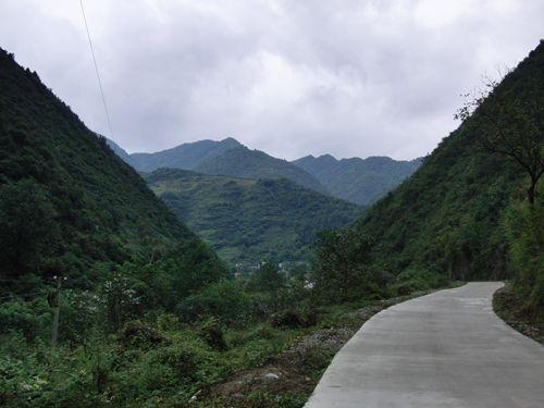 陳倉古道墓付近の風景